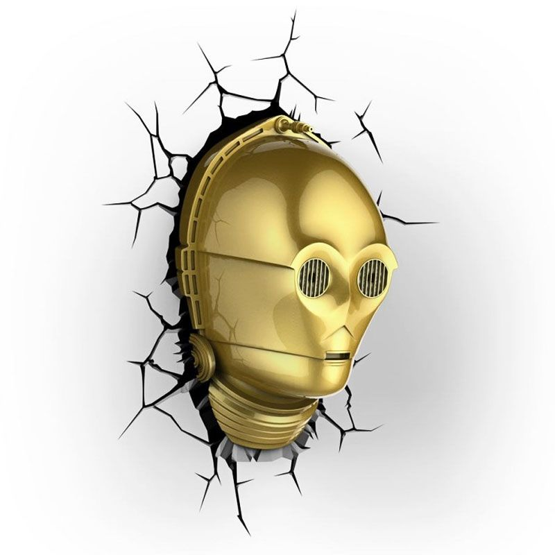 Lámpara C-3PO 3D DECO LIGHT de la saga Star Wars