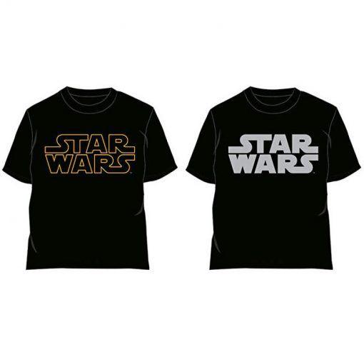 Camiseta Star Wars logo clásico adulto