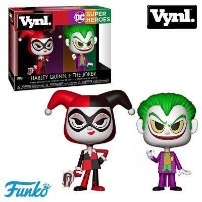 Pack Figuras Harley Quinn y Joker DC comics Funko Vynl
