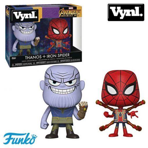 Pack Figuras Thanos y iron Spider Marvel Avengers Infinity War Funko Vynl